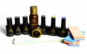 Long or short nail overlay - Glittery kit